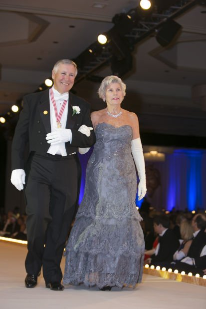 Lady of Honor Mrs. Lee E. Rottmann and her escort, David M. Touchette