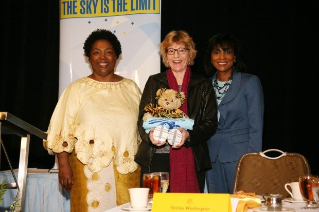 Barbara Washington, Louise Palanker, Shirley Washington
