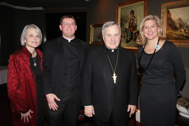 Sharon Gerken, Fr. Joe Post, Archbishop Robert Carlson, Laura George