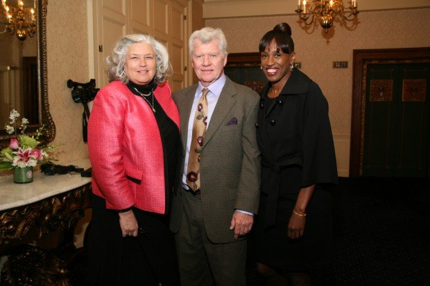 Maureen and Mike Moore, Jackie Joyner-Kersee
