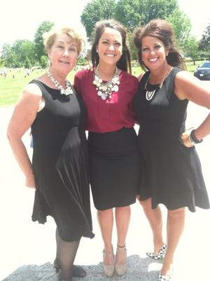 Donna Pfeiffer, of Cedar Hill, and her granddaughter, Lexie Hancock, and daughter, Holly Brown, of Mehlville