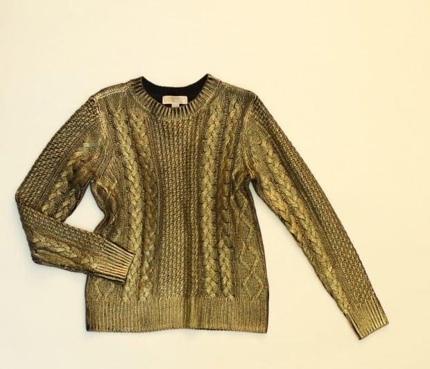 Look 5 sweater, $150, Michael Kors