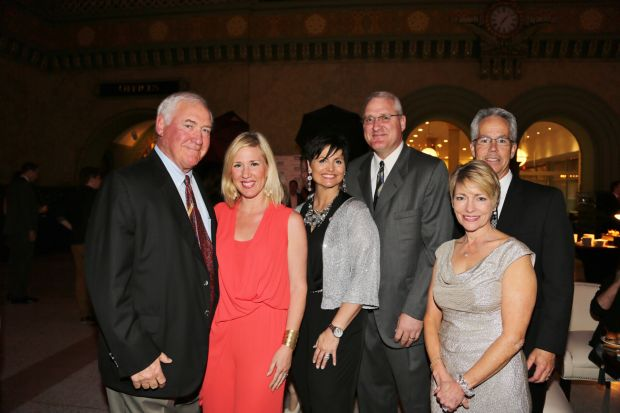 Rich Sauget, Annie Sauget-Miller, Tricia and Rich Sauget, Sherry and Mike McCarthy