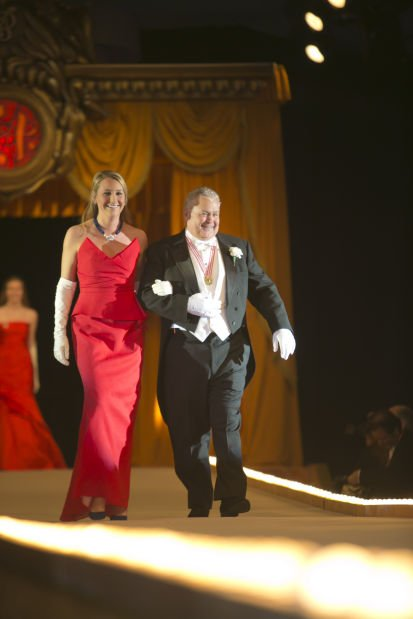 Former Queen Miss Melissa Brenton Howe and her escort, Robert H. Crutsinger