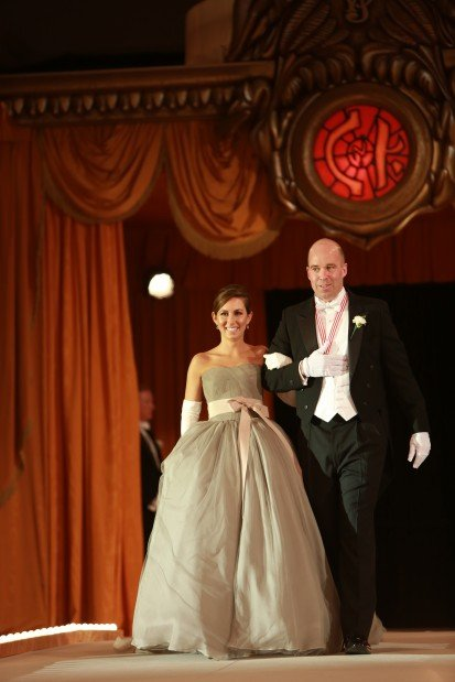 Margaret Elizabeth Frane, daughter of Mr. and Mrs. Peter Frane, escorted by Andrew Hereford