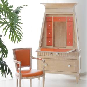 9b Boy's Room by MKS Designs french key secretary light limed orange interior