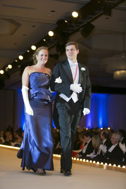 Former Queen Mrs. Josephine Marie Condie Finney and her escort, Hunter R. Brown