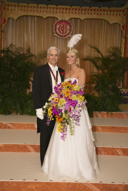 2013 Veiled Prophet Queen Katherine Falk Desloge and her father, Stephen F. Desloge