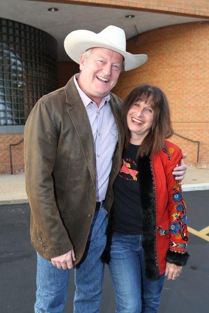 Craig Johnson author, and Judy Johnson