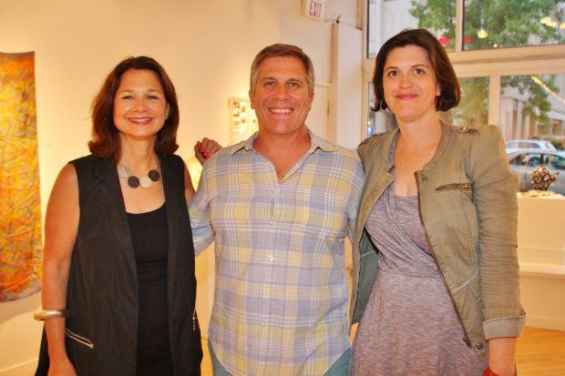 Boo McLoughlin (Executive Director), Tim Flynn (Board Chair), Stefanie Kirkland (Director of Exhibitions)