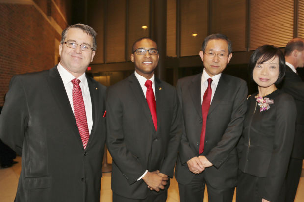 Chris Grahn-Howard, Rep. Joshua Peters, Masaharu and Miho Yoshida