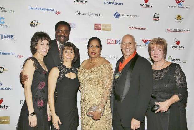 Carol Imo, David Steward, Kelly Imo, Thelma Steward, Designer Carmen Marc Valvo, Margie Imo