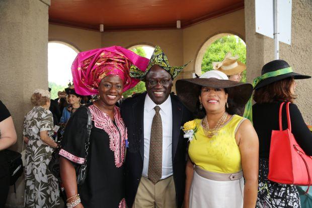 Bola and Benjamin Akande, Holly Cousins