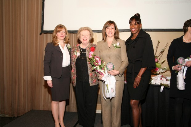 Mary Frontczak, Blanche Touhill, Meredith Knopp, Jackie Joyner-Kersee