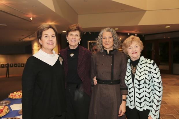 Myrna Meyer, Jean Cavender Museum Director, Carol Staenberg, Gloria Feldman