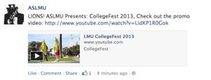 CollegeFest 2013 video post