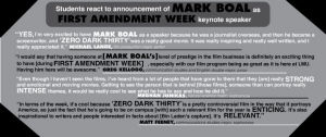 Students react to announcement of Mark Boal as First Amendment Week keynote speaker