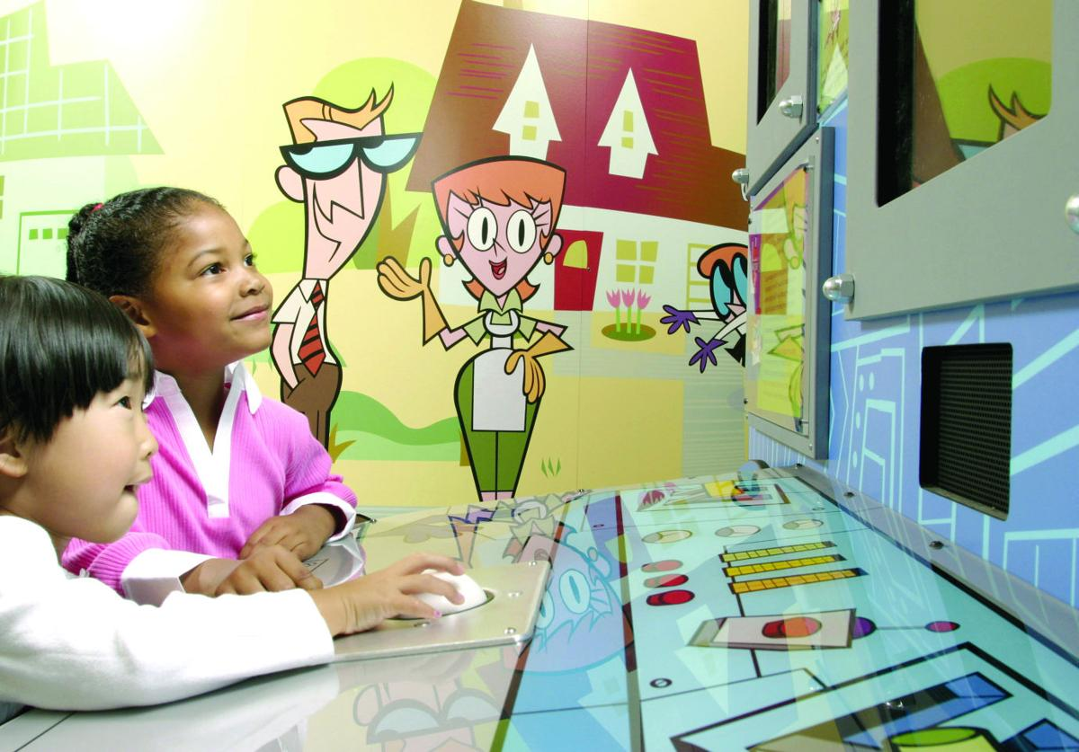 Exhibition Booth Animation : Cartoons bring animation to life in new whitaker center