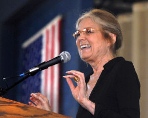 Feminist icon Gloria Steinem says battle for equality is far from over