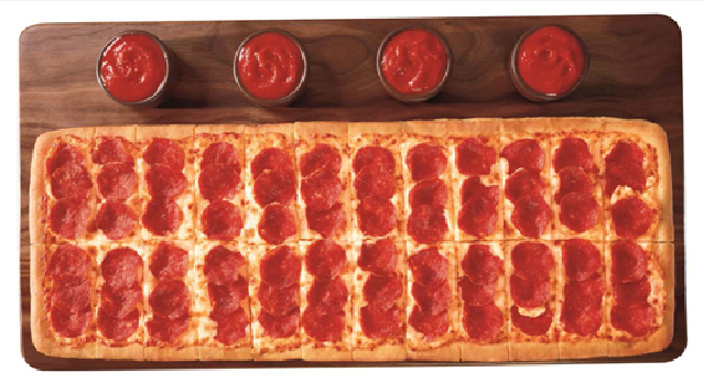 """""""By introducing the Big Flavor Dippers Pizza, Pizza Hut is giving pizza fans a new and more fun way to enjoy pizza with their friends and families."""" Customers can order the Big Flavor Dippers Pizza with one topping and four dipping sauces for just $"""