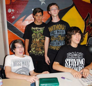 Teens form metal band with a positive message