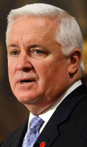 Pa. Gov. Corbett defends handling of Jerry Sandusky investigation