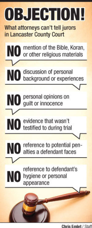 Objection! What lawyers can't say at trials