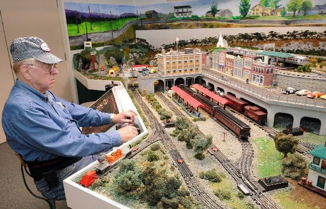 Model train displays in pa