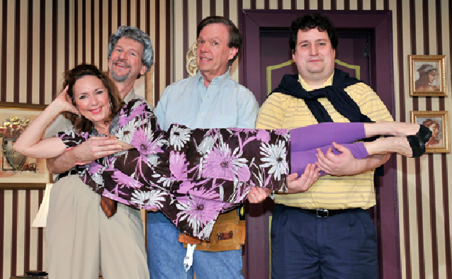 Rainbow 39 s 39 hold 39 is a gut bustingly funny farce for Broadly farcical