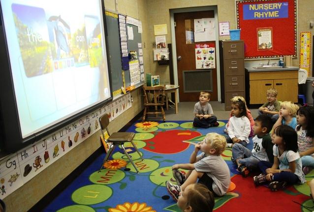 Preschool Classroom Layout 21st Century : Pre-kindergarten students at Stiegel Elementary learn the alphabet ...