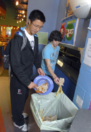 Local colleges develop green solutions for food waste