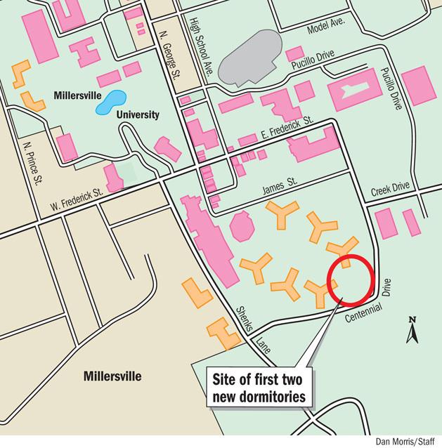 Millersville University Map Millersville University to