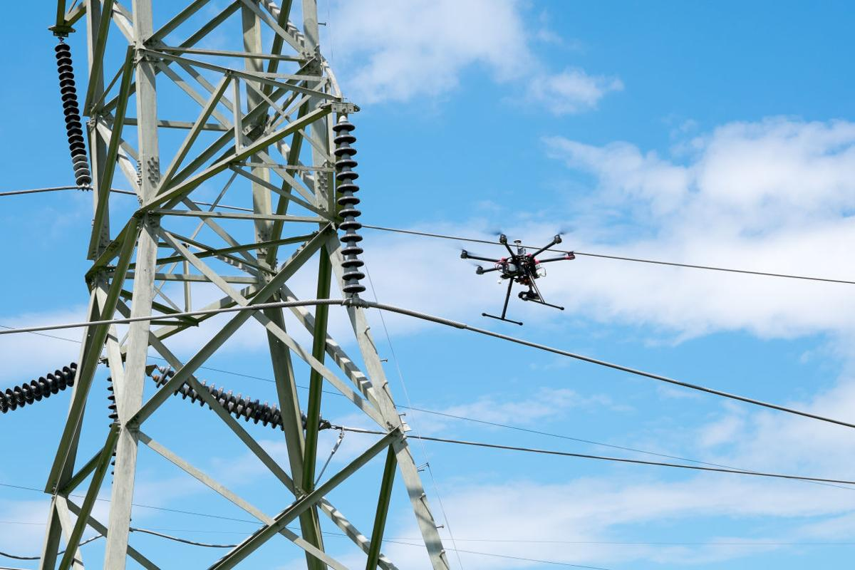 Ppl Starts Using Drones To Help Inspect High Voltage Lines