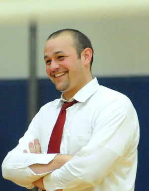 Manheim Central volleyball coach Craig Dietrich