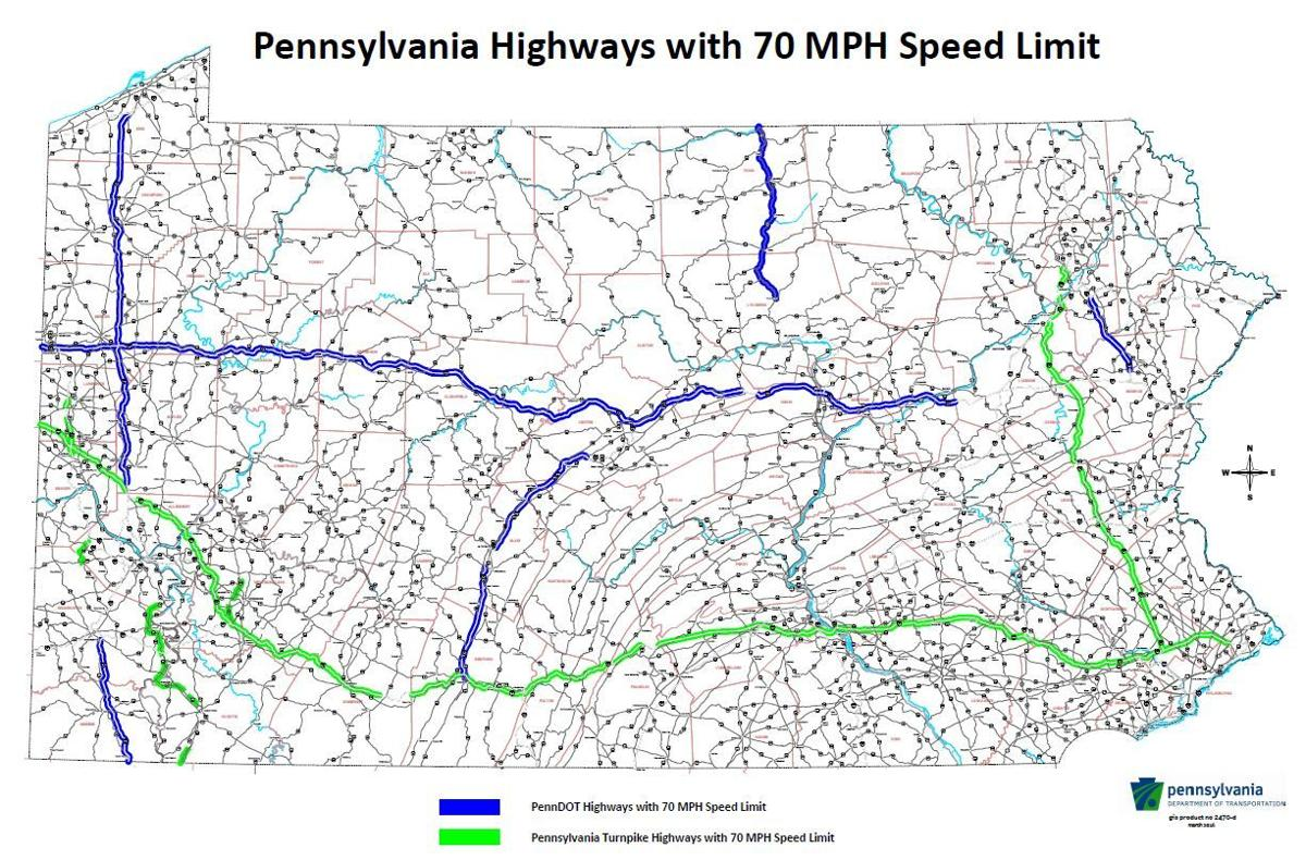 pennsylvania is expanding its 70 mph zones here s the top speed