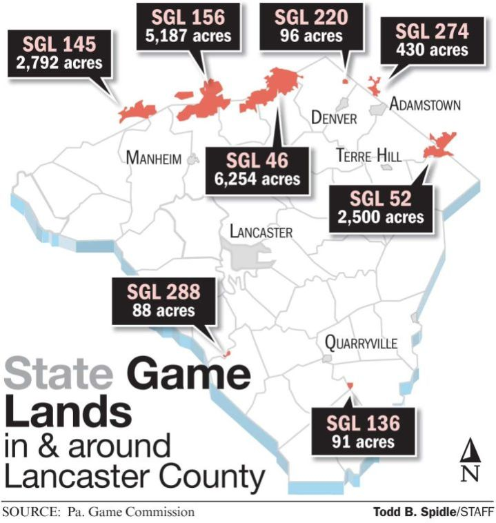 Non hunters who use state game lands across pennsylvania for Pa fishing license fees