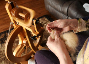 Tradition Of Spinning And Creating With Dog Hair Has A Small -- But Loyal -- Local Following: Spinning the fur. (Richard Hertzler)