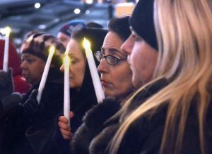 Health care union holds Penn Square vigil for sensible gun laws