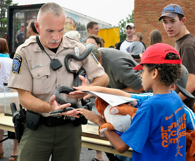Police greet public at 29th national night out news for Pa boat and fish commission