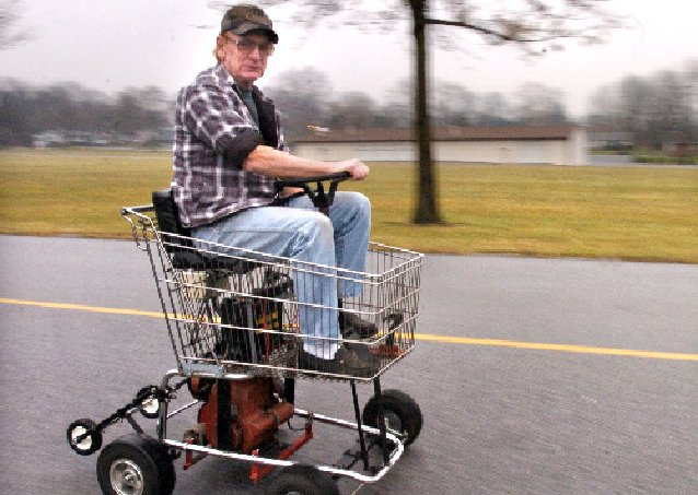 Motorized Shopping Cart 39 Toilet Trike 39 Are Talk Of Town News