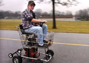 Motorized Shopping Cart 39 Toilet Trike 39 Are Talk Of Town Lancasteronline News
