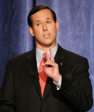 Santorum weighs in on race