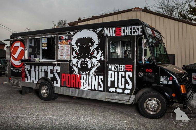 Baron von schwein in the lead for truck graphic design for Design your own food truck online