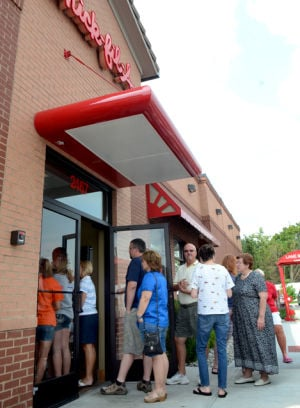 Chick-fil-A draws a crowd of supporters here