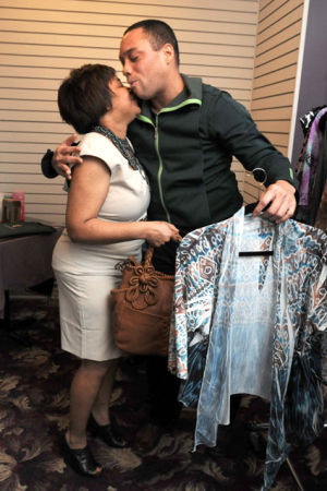 A closet filled with giving: Local woman is recipient of a new designer wardrobe