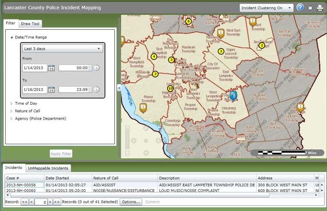 online mapping system shows criminal activity in lancaster county