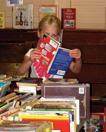 Inspecting the children's books