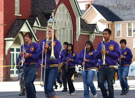 The Lake County High School band
