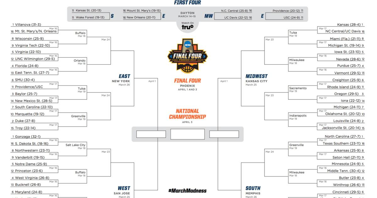 printable march madness bracket - photo #34