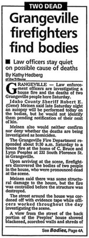 Two fires, two deaths